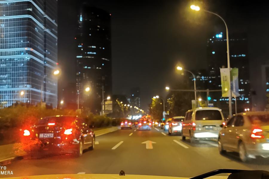 北京国贸东三环夜景车水马龙高楼大厦灯火通明,智慧城市,智慧安防
