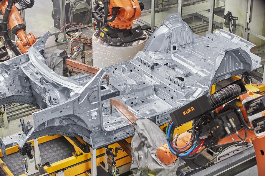 寶沃工廠制造半成品車間效果圖,工業互聯網,人工智能,大數據,5G