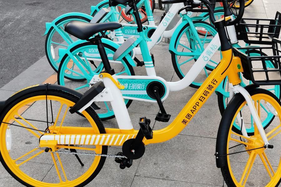 共享單車帝都青橙單車和美團小橙單車,共享出行,共享單車,共享汽車