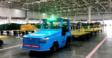 湖南机场首次用上国内首个空港货运无人驾驶技术