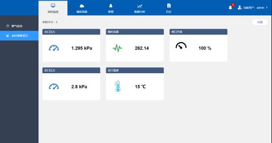 燃气设备智能管理系统监测界面