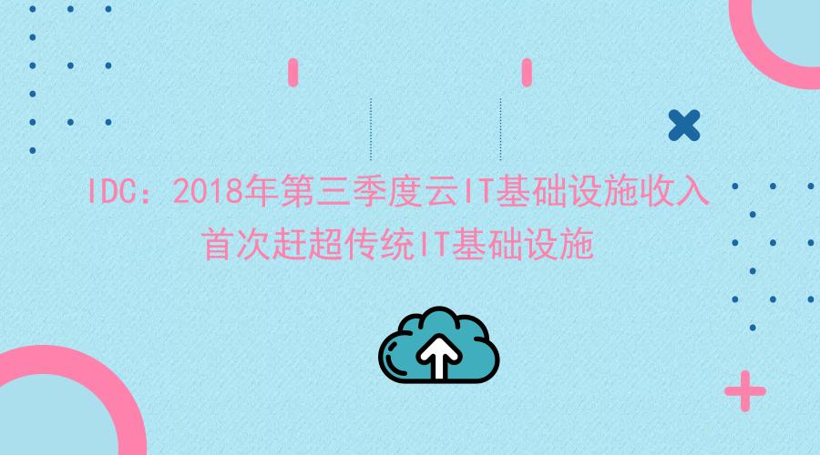 IDC:2018年第三季度云IT基础设施收入首次赶超传统IT基础设施