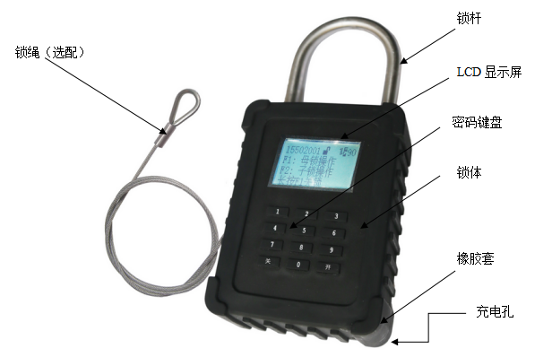 物聯智能鎖 防風雨物流鎖 GPS定位鎖全程信息反饋 安防 密碼掛鎖