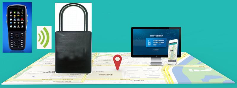 防盜防震物流鎖 貨車掛鎖GPS定位鎖 現場刷卡 智能物聯鎖