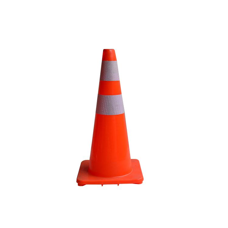 PVC路錐路障設施雪糕筒交通安全警示反光錐雪糕桶三角錐形筒