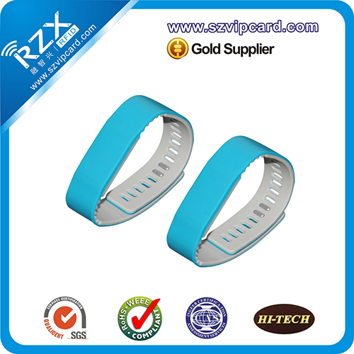 125khz 13.56MHZ RFID 硅胶腕带