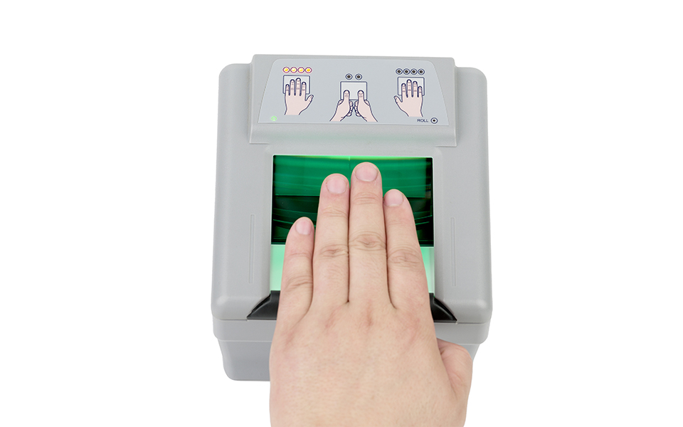 尚德公司指掌纹采集仪,滚动指纹采集设备,442采集仪