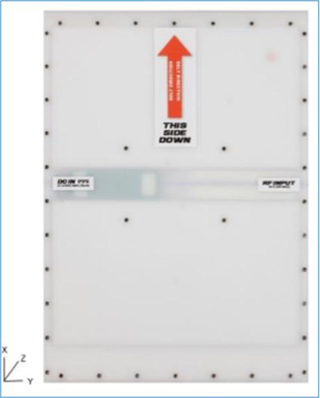 4dbi 超低剖面UHF RFID圆极化天线机场板阵列RFID天线 A6015